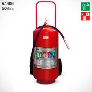 Extintor Carreta Espuma Mecânica 50 litros (6A-40B)