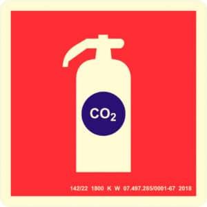 Placa de Sinalização Extintor CO2