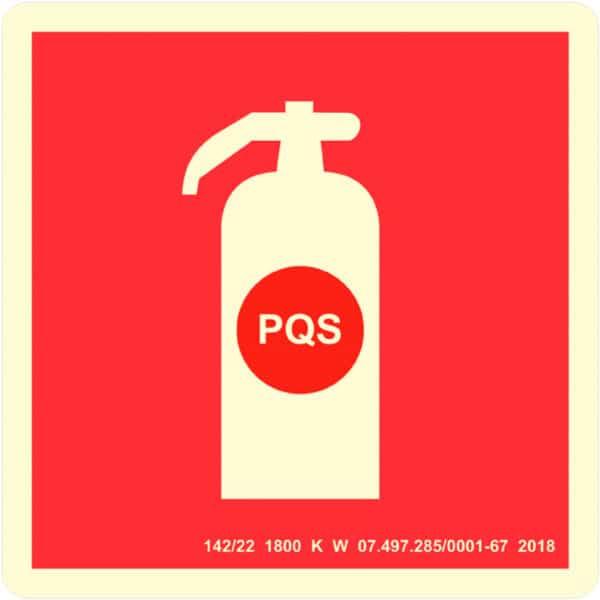 Placa Sinalização Extintor PQS