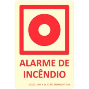 Placa de Sinalização Alarme de Incêndio