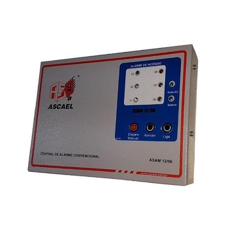 Central Convencional 6 Laços com Bateria – ASAM 12 6 – Ascael