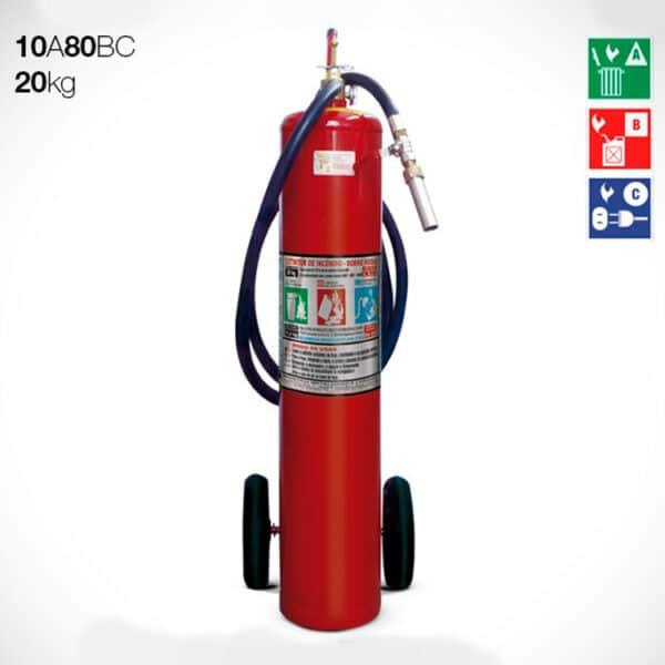 Extintor Carreta Pó Químico ABC 20kg