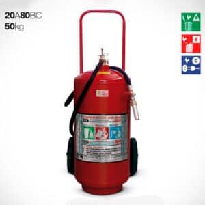 Extintor Carreta Pó Químico ABC 50kg - 20A-80BC