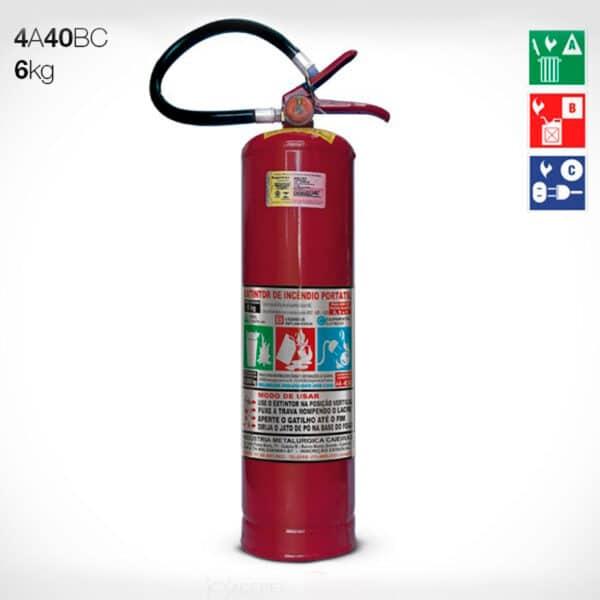 Extintor de Pó Químico Seco ABC 6KG
