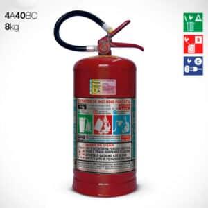 Extintor de Pó Químico Seco (PQS) ABC 8KG