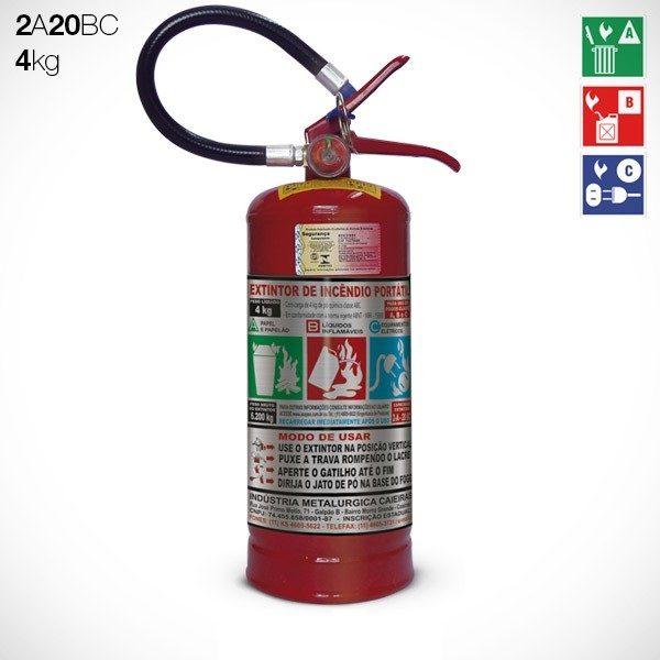 Extintor de Pó Químico Seco (PQS) ABC 4 Kg