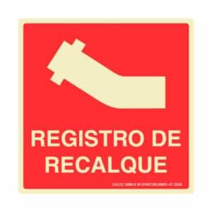 Placa de Sinalização Registro de Recalque