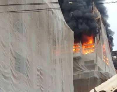 incêndio na obra